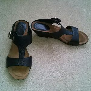 Sofft leather sandals.